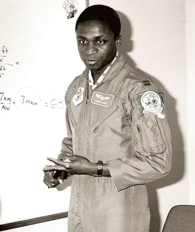 Gen. Darren W. McDew, pictured nearly 30 years ago, instructs students on piloting the KC-135A refueling aircraft at the 42nd Air Refueling Squadron, Loring Air Force Base, Maine. (U.S. Air Force photo)