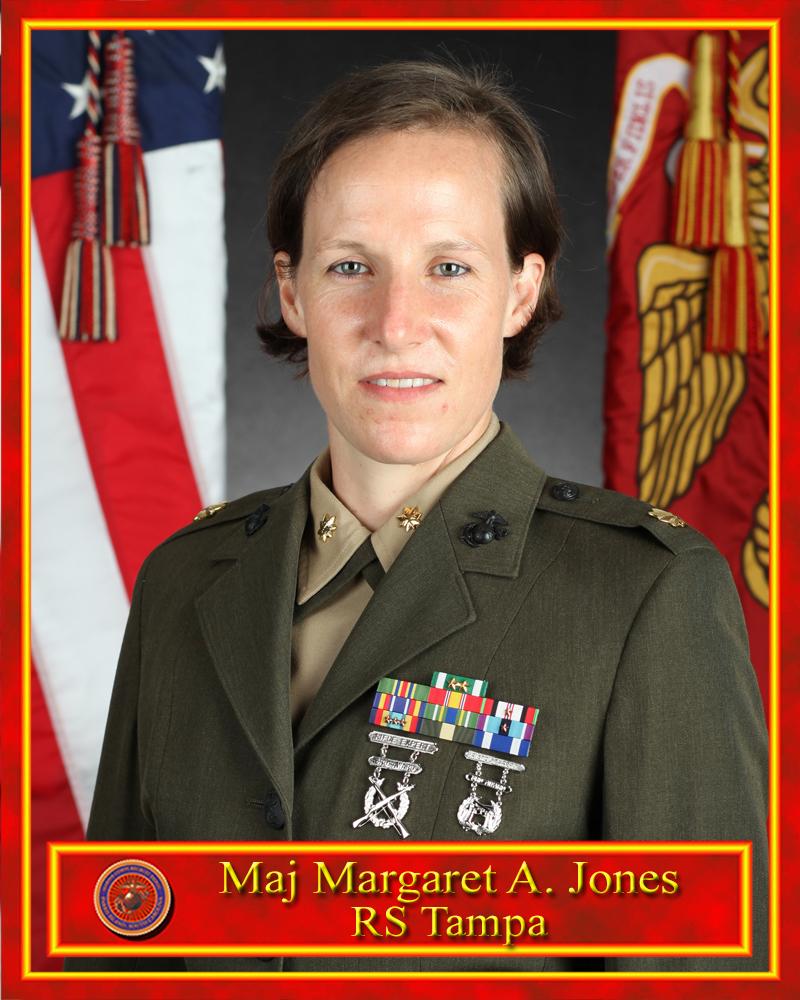 Maj. Jones poses for a command photo