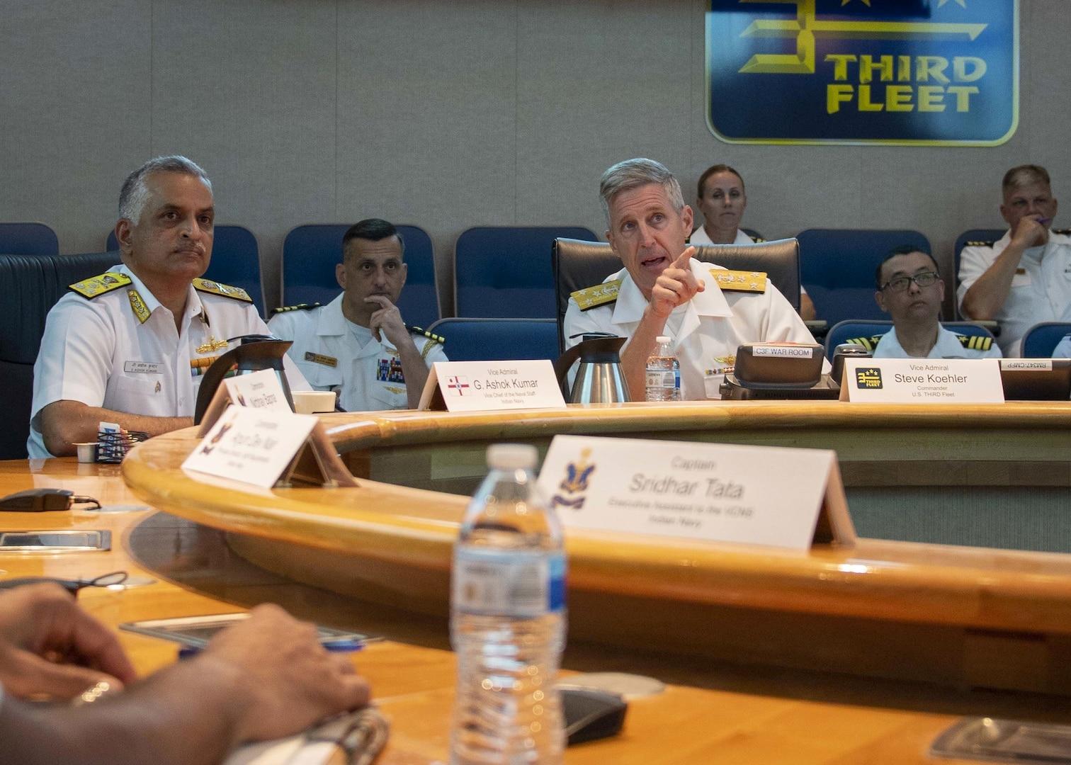 Indian Navy Vice Chief of Naval Staff visits Commander, U.S. 3rd Fleet