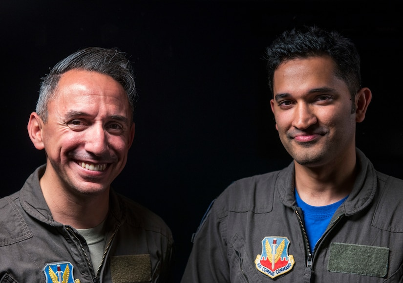 Maj. Ray and Capt. Syed are 99th Reconnaissance Squadron who took initiative in learning the acquisitions process in order to make sure their squadron is equipped and ready to execute the mission. (U.S. Air Force photo by Staff Sgt. Marianique Santos)