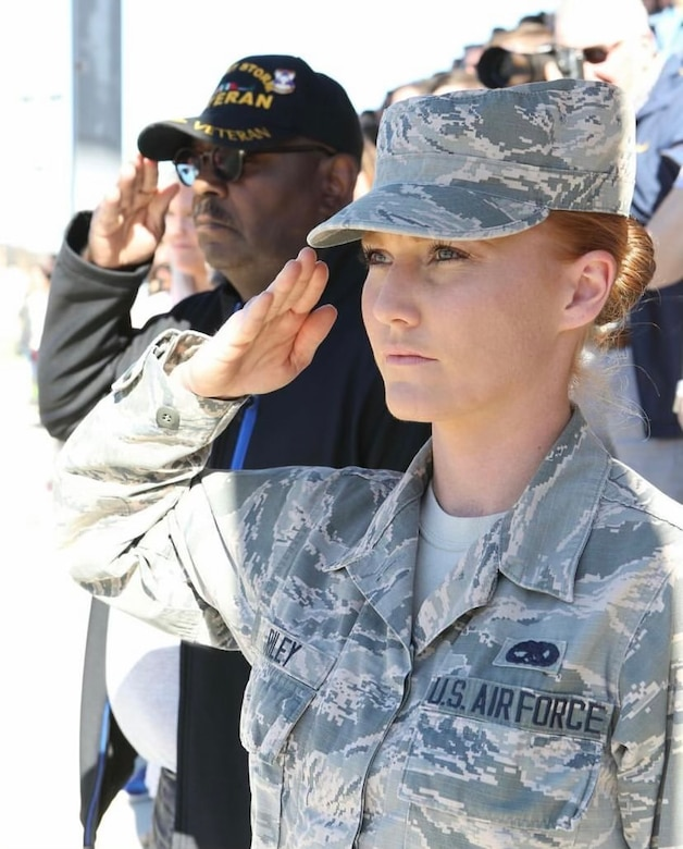 Staff Sgt. Kristy L. Riley, 924th Maintenance Squadron, Davis-Monthan Air Force Base, Arizona, poses for a photo.