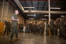 ACMC visits Marines and Sailors with 2nd Marine Logistics Group