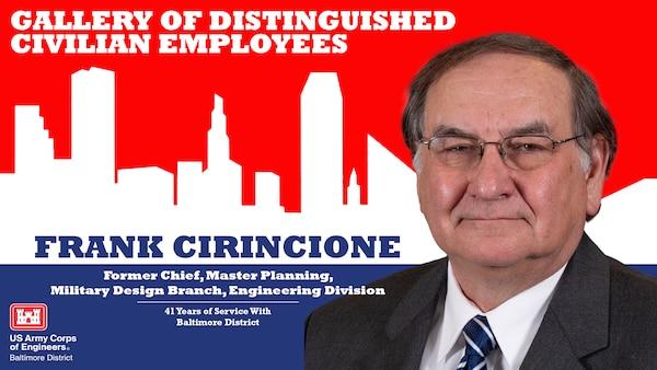 Frank Cirincione, Gallery of Distinguished Employees