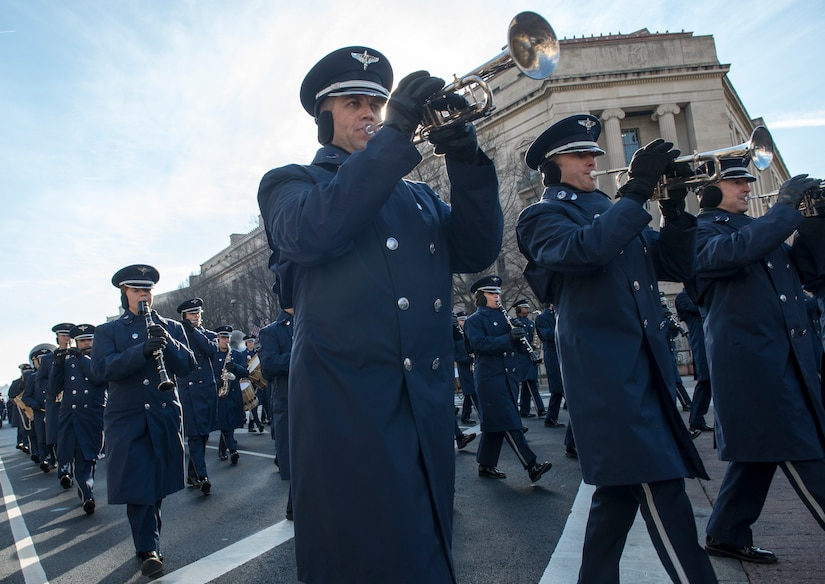 Dress rehearsal for the 58th Presidential Inauguration