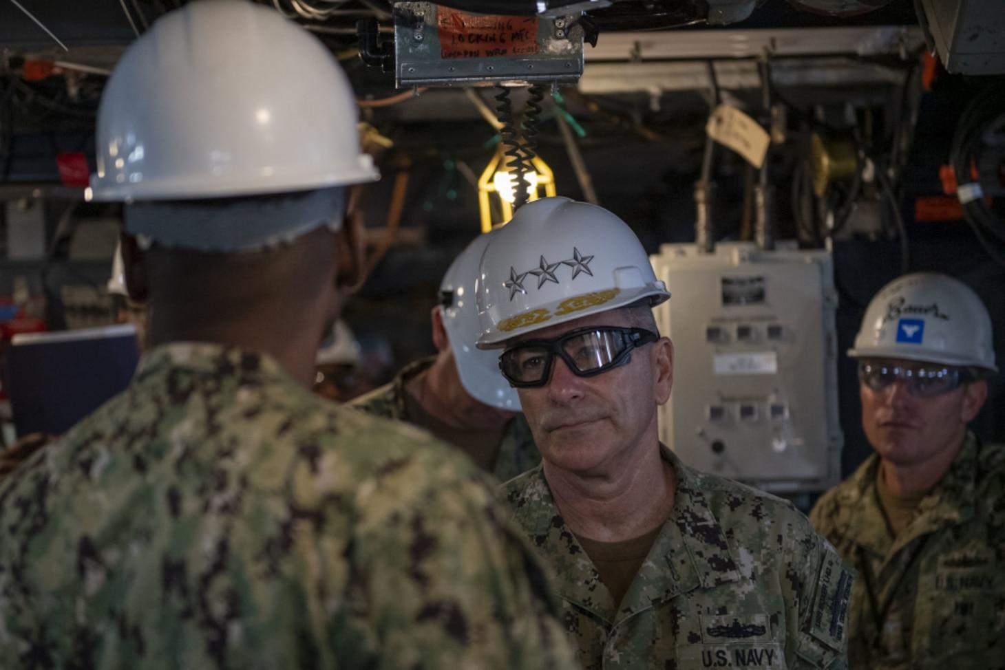 Vice Adm. Kitchener Visits USS Boxer