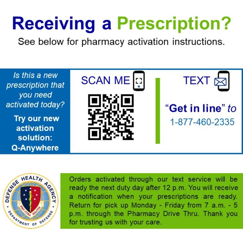 Q-Anywhere Prescription Activation Flyer