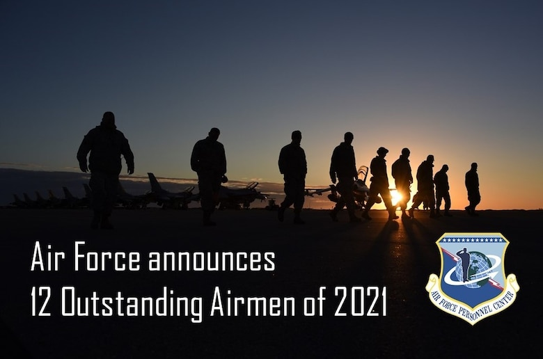 Graphic of a silhouette of Airmen walking across flight line.