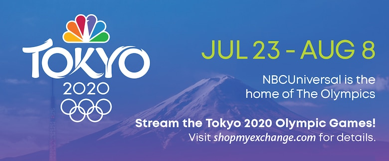 Logo for how service members can stream Olympic Games