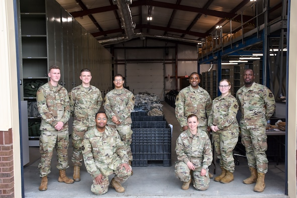 The 442d Logistics Readiness Squadron supply section poses for a pictur