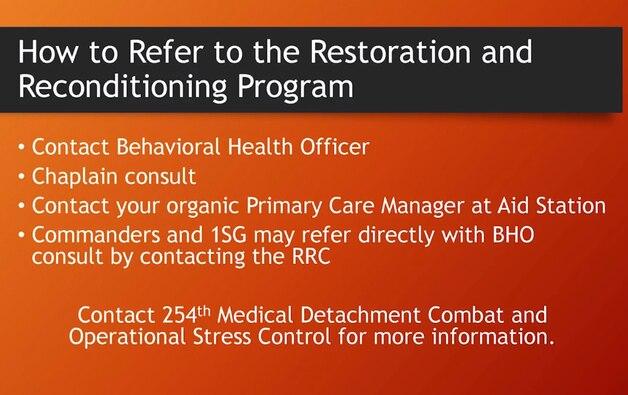 Restoration and Reconditioning Program
