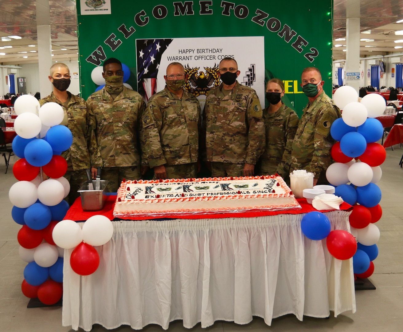 Deployed 29th Infantry Division Warrant Officers Celebrate 103rd birthday