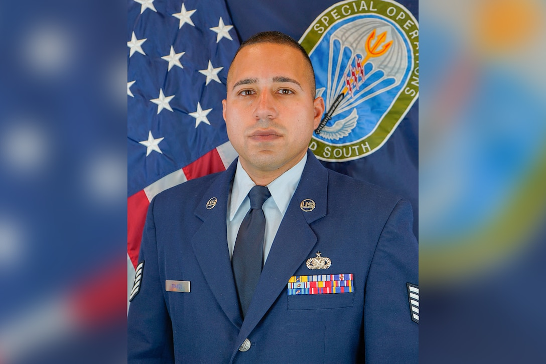 """""""In my opinion, having language enabled Airmen in our Air Force strengthens our capabilities across the globe,"""" Tech. Sgt. Emmanuel Franco-Heredia said. (Courtesy photo)"""
