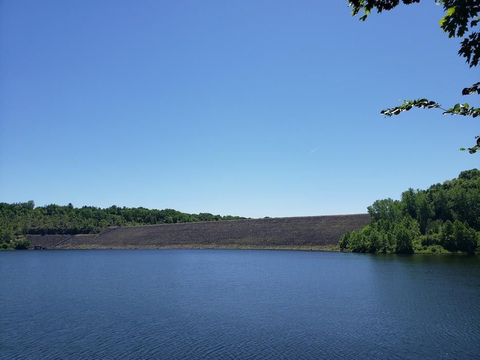 A lake and a dam