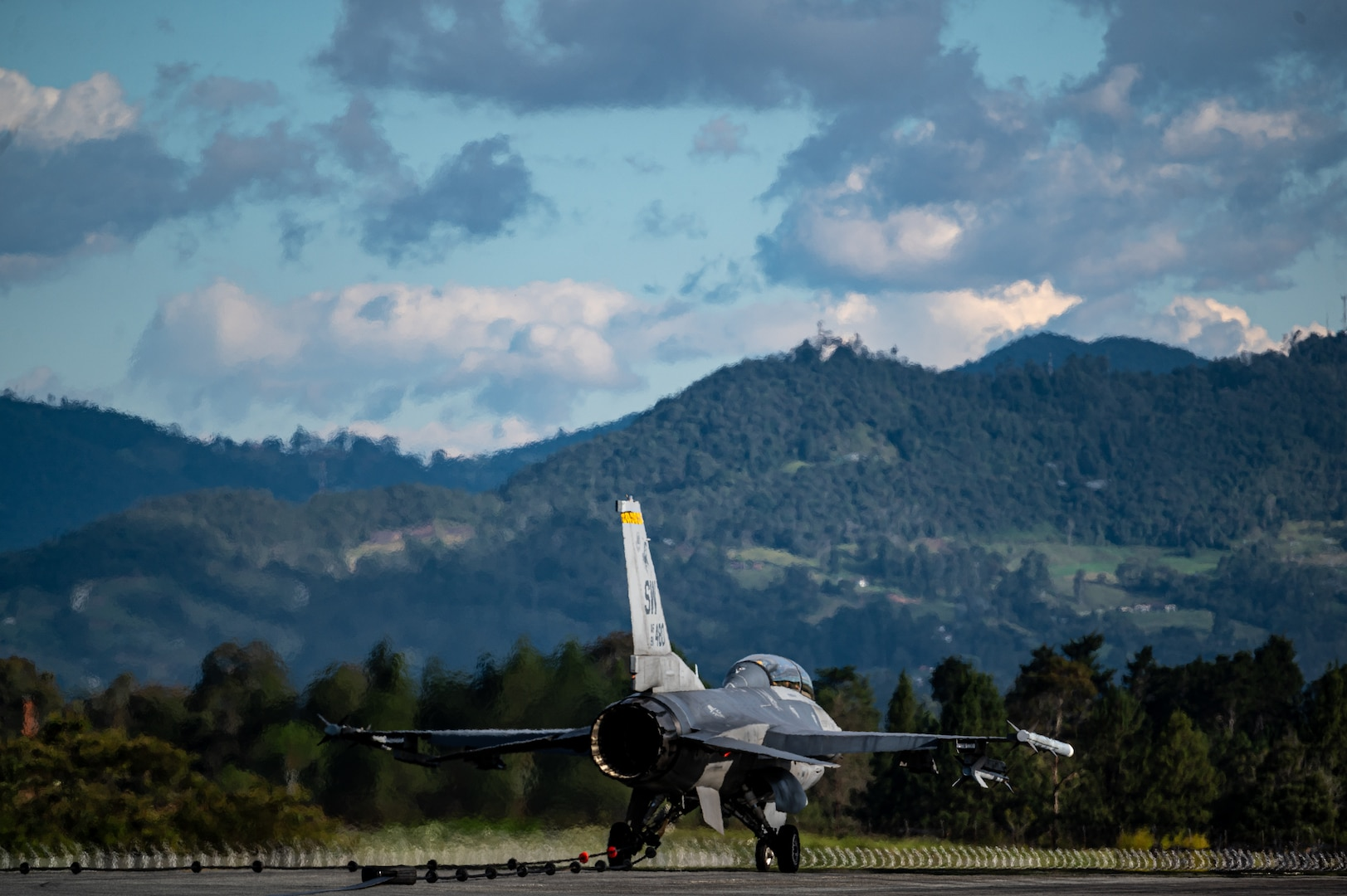 F-16s along with personnel from Shaw AFB will rapidly integrate into theater training, as well as joint, coalition and partnered missions.