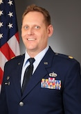 Photo of Airman in dress blues