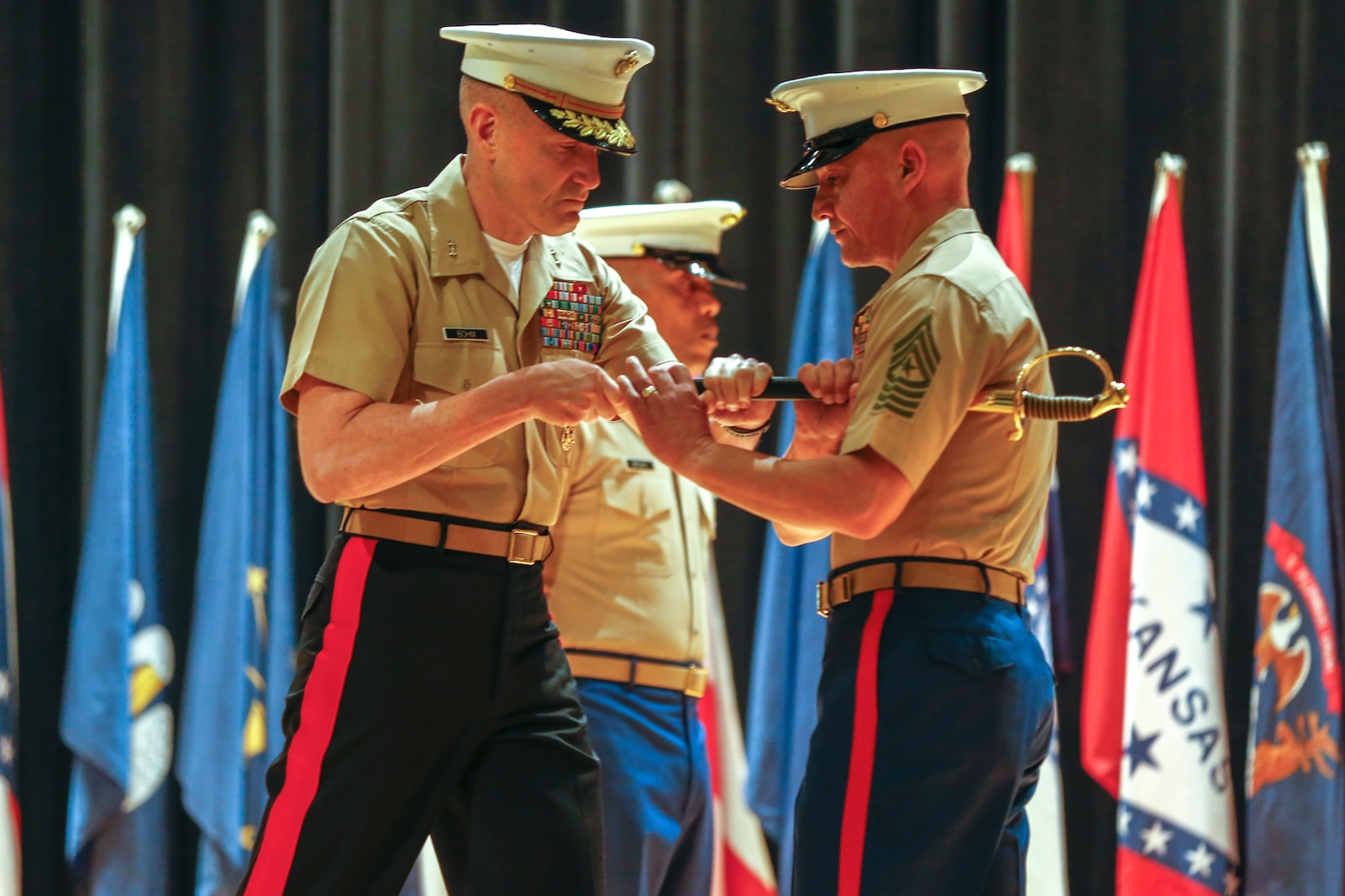 MCRC Sergeant Major relief and appointment ceremony