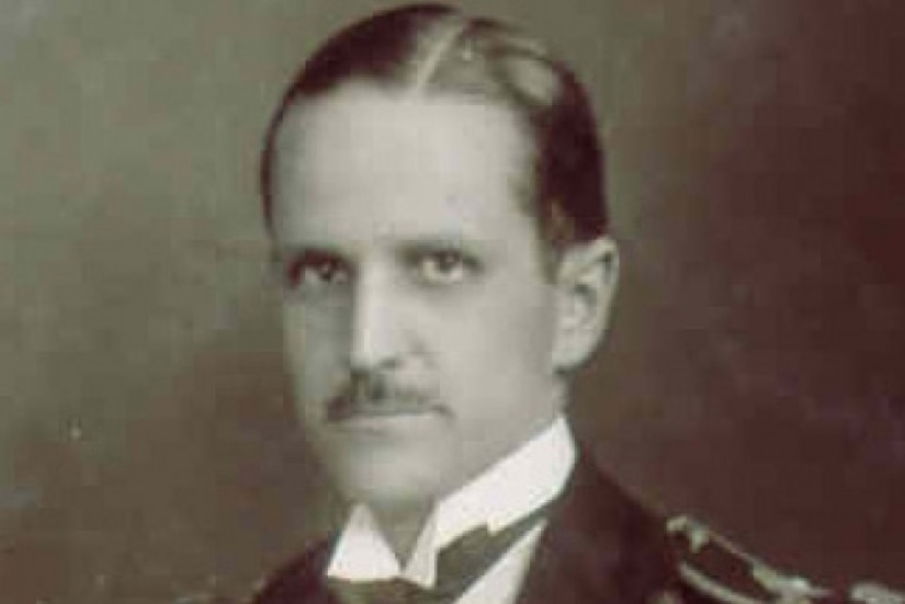 Headshot of a man, circa 1919.