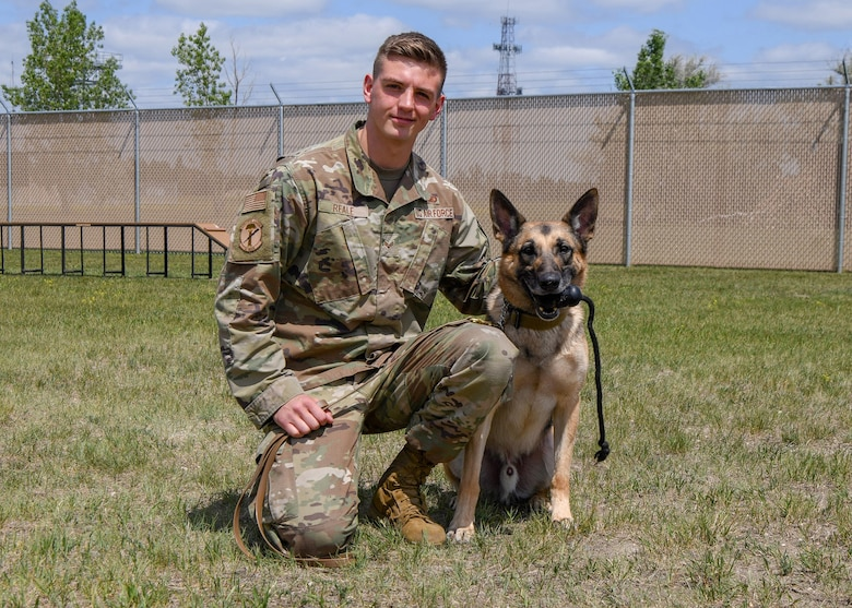 Senior Airman Lucas Reale, Canine Handler, 91st Missile Security Operations Squadron.