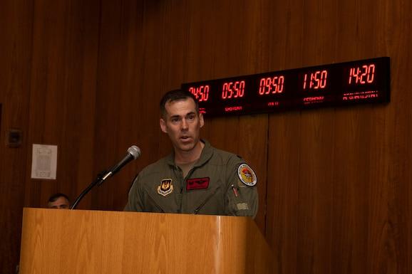 Lt Col Rutell Speaking
