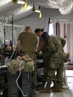 Soldiers from the 932nd Forward Resuscitative Surgical Team train for surgical procedures, June 8, 2021, near Cap Draa, Morocco during African Lion 21.