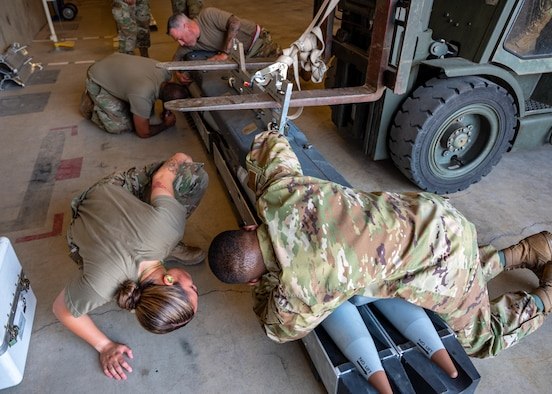 A photo of munitions training