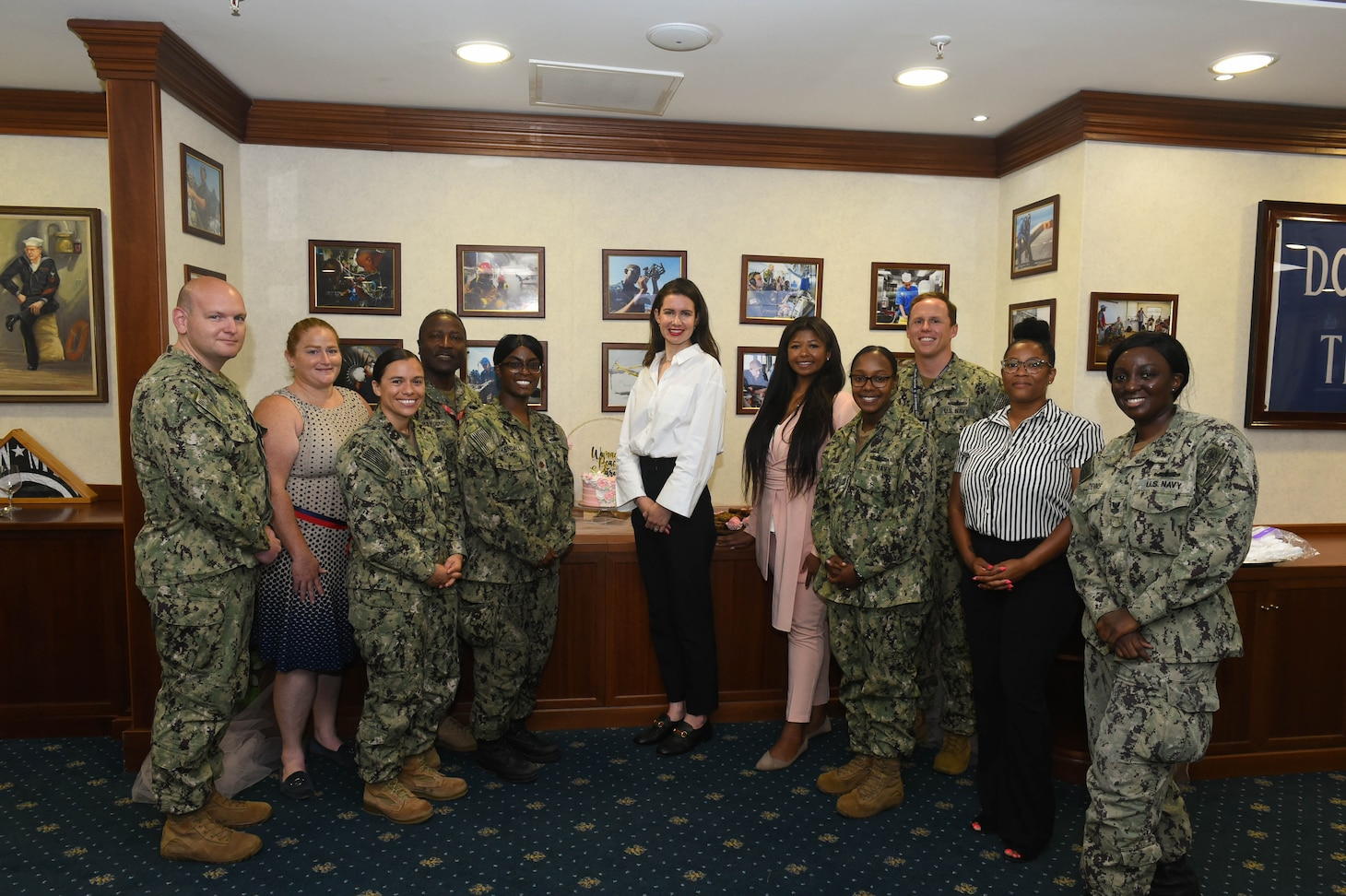 (July 13, 2021) The women, Peace and Security (WPS) working group attend a training held by U.S. Africa Command (USAFRICOM) Gender Advisor Lindsey Brothers onboard Naval Support Activity Naples, Italy, July 13, 2021. U.S. Naval Forces Europe-Africa/U.S. Sixth Fleet, headquartered in Naples, Italy, conducts the full spectrum of joint and naval operations, often in concert with allied and interagency partners in order to advance U.S. national interests and security and stability in Europe and Africa.