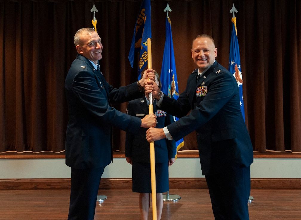 U.S. Air Force Col. Steven L. Watts II takes command of the Geospatial and Signatures Intelligence Group