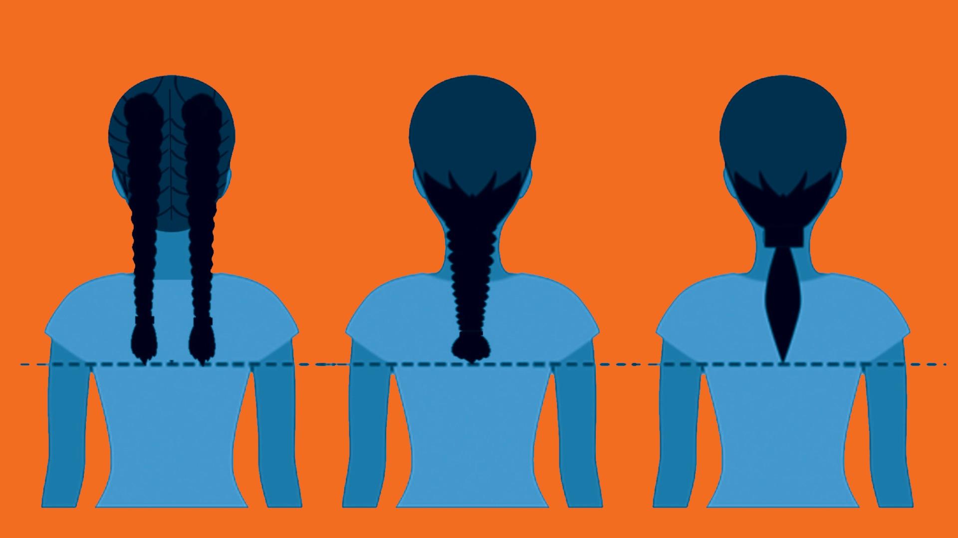 USCG now allows braids, ponytails.