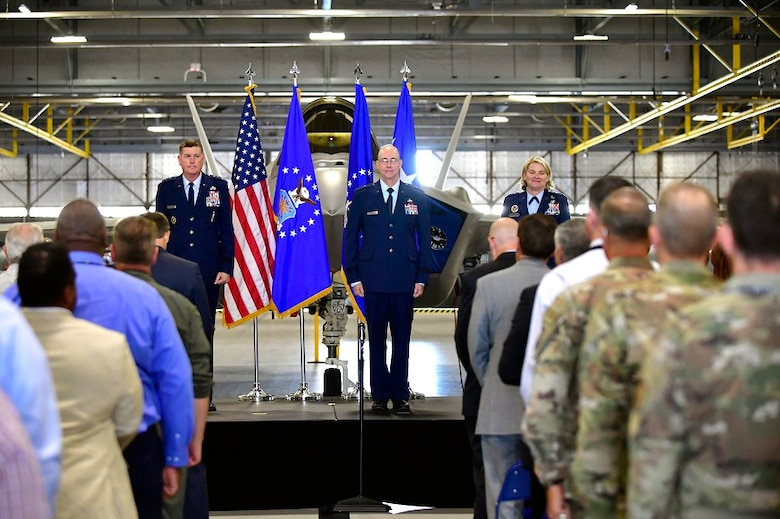 Brig. Gen. Richard Gibbs became the new Ogden Air Logistics Complex commander at Hill during a change of command ceremony July 15.