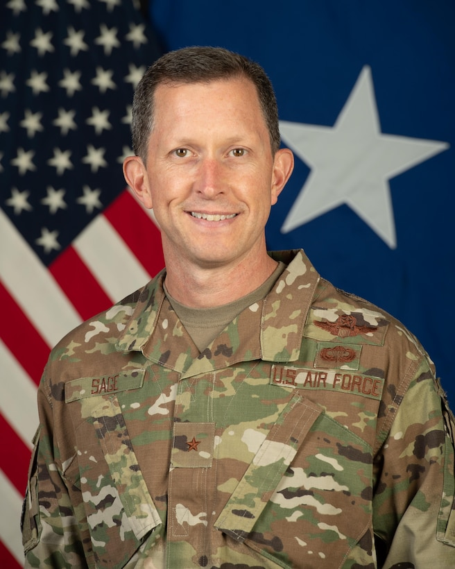 Official Photo of Brig. Gen. Christopher S. Sage, 332nd Air Expeditionary Wing commander