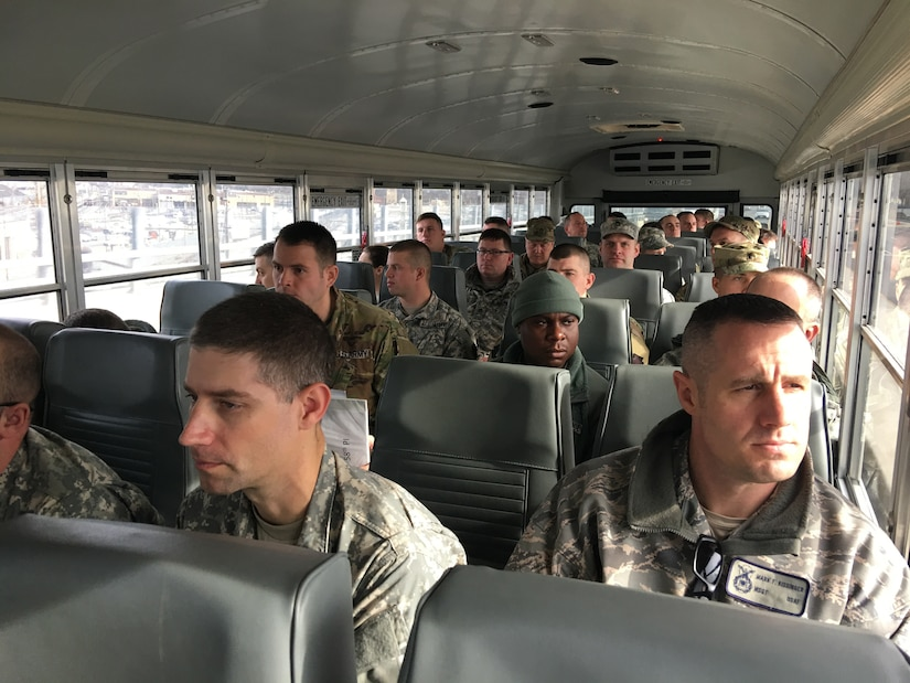 More than 7, 000 Soldiers and Airmen from throughout the country, including about 1,000 from the Commonwealth of Pa., assembled to provide crowd management, traffic control, emergency services, and communication and ceremonial duties for the event