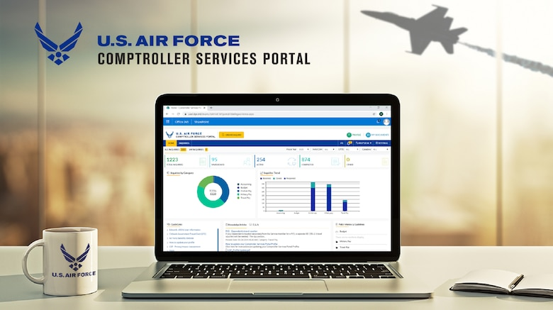A graphic of comptroller service portal.