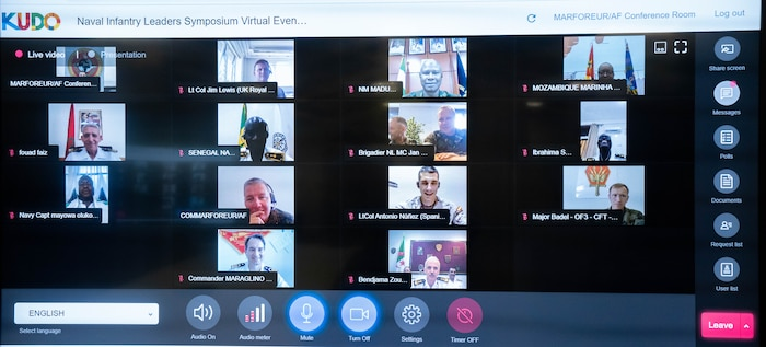 Maj. Gen. Tracy W. King, MARFOREUR/AF commander, and other maritime leaders attend the Naval Infantry Leaders Symposium- Africa (NILS-A) virtual conference.