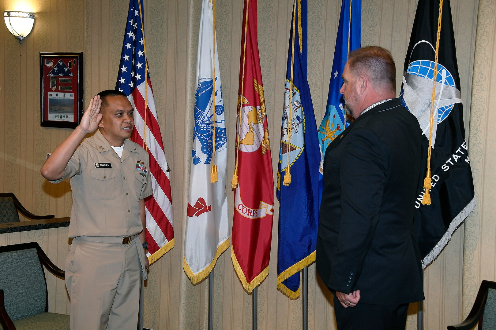 Navy Lt. being promoted.