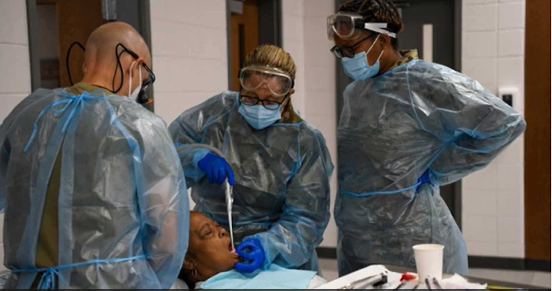 Five members of the 413th Aeromedical Staging Squadron participated in the 2021 East Central Georgia Medical Innovative Readiness Training (IRT) mission. Operating from four locations, they teamed with other Reserve Citizen Airmen and service members from Navy Reserve, Army Reserve, Marine Corps Reserve, Air National Guard and active-duty Army medical units to provide no-cost health services to communities within East Central Georgia between June 9 to June 17. (U.S. Air Force video by Jamal D. Sutter)