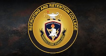 the recruiting and retention college logo, which is a yellow circle with text inside.