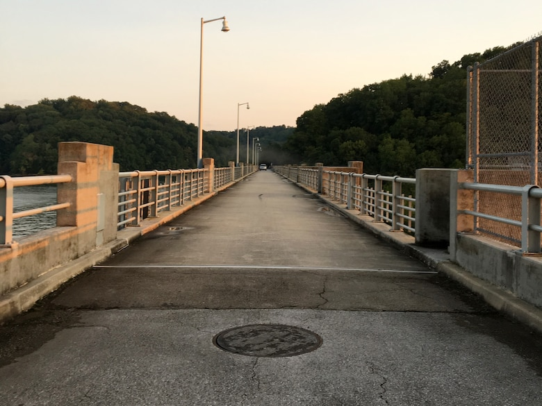 The U.S. Army Corps of Engineers Nashville District announces Dale Hollow Dam Road at the dam in Celina, Tennessee, is closing to all traffic 8 a.m. Wednesday, July 21 2021, while personnel perform scheduled maintenance on the unit head gates. (USACE Photo by Sondra Carmen)