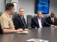 RI governor talks commitment to education, equity and economy during visit to NUWC Division Newport