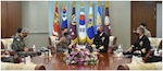 Adm. Richard meets with ROK Chairman of Joint Chiefs of Staff, Minister of Defense, and other ROK Commanders. Through the ironclad alliance with the ROK, the parties discussed ways to enhance the already strong deterrence posture and support ROK allies on the Korean Peninsula.