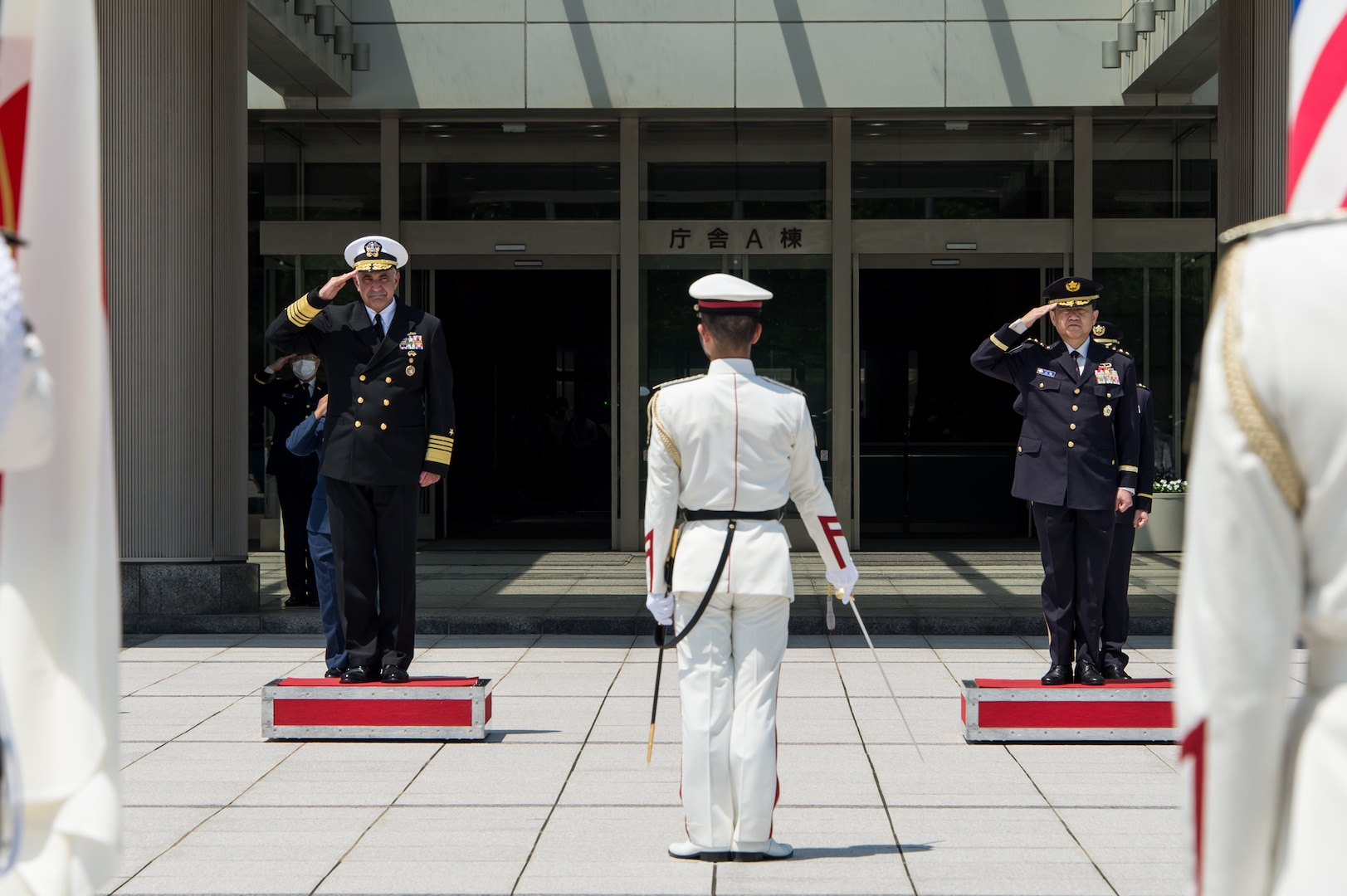 While in Japan, Richard meets with the Japanese Chairman of the Joint Chiefs of Staff, Japanese Joint Staff, Defense Minister, Foreign Minister and Secretary General. During these visits, he discussed with Japanese senior leaders regional situational awareness of threats and areas where the two nations can strengthen strategic deterrence.