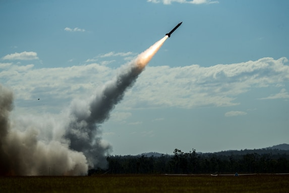 US Army Launches Patriot Missiles During Talisman Saber 21