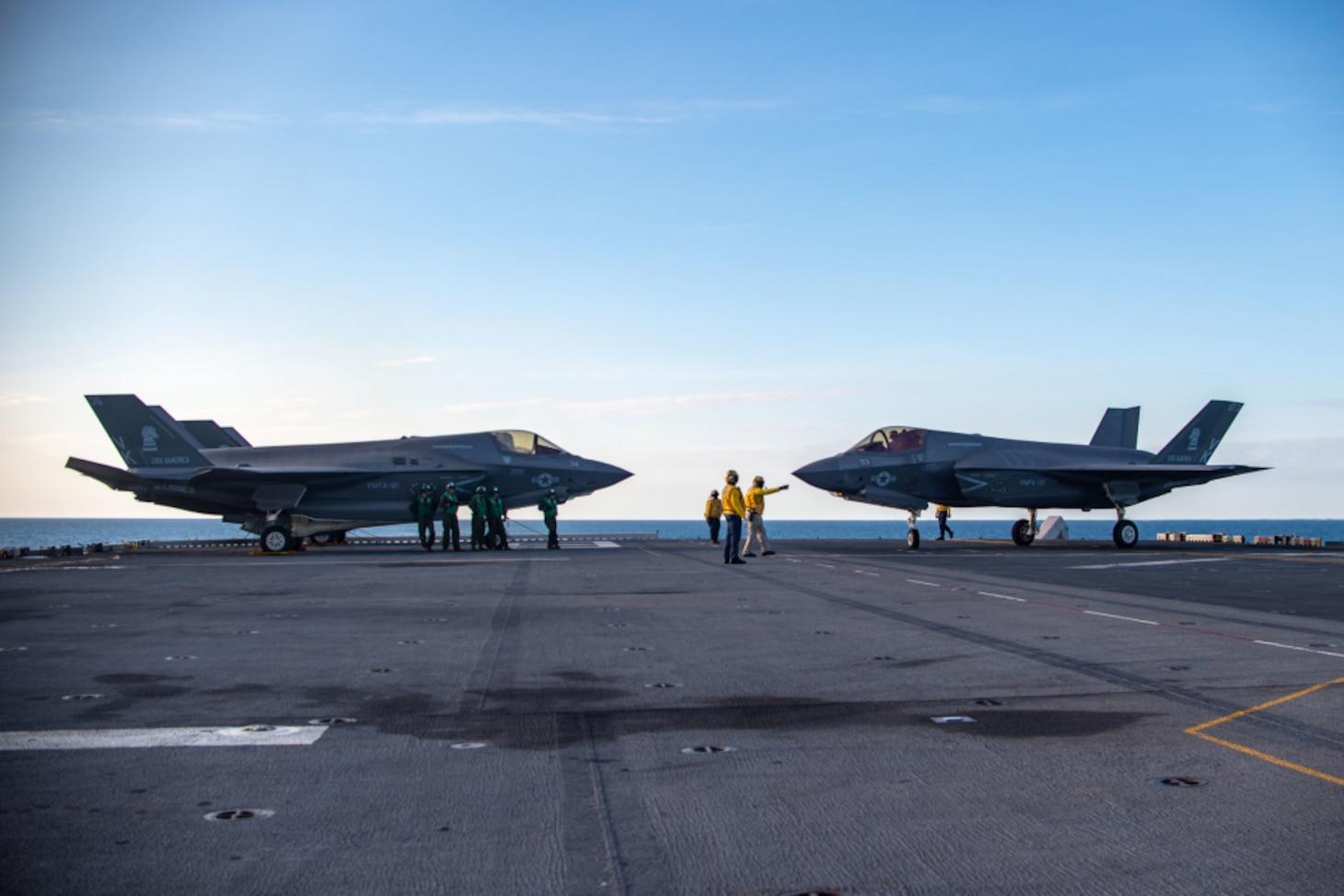 USS America (LHA 6) Conducts Flight Operations