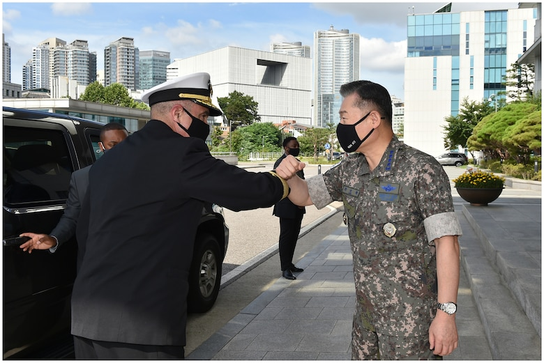 During Adm. Richard's recent INDOPACOM trip, he met with Republic of Korea Chairman of the Joint Chiefs of Staff, the Minister of Defense and other ROK Commanders. Through the ironclad alliance with the ROK, the parties discussed ways to enhance the already strong deterrence posture and support ROK allies on the Korean Peninsula.