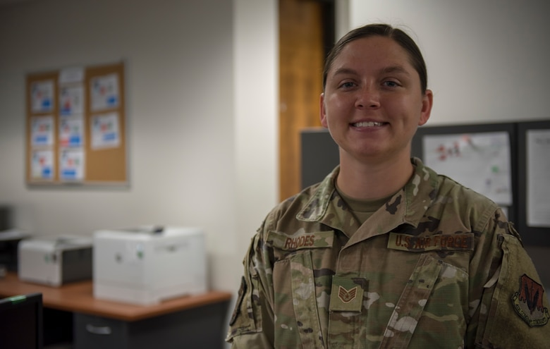 Photo of airman smiling