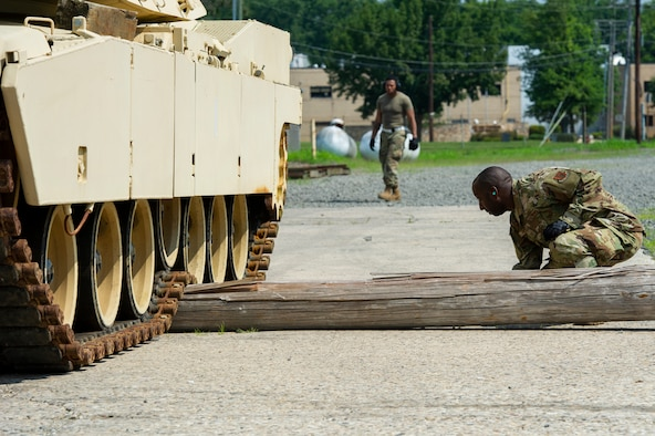 . Members from the 35th and 88th APS participated in a joint training exercise with the N.J. National Guard to improve their operational efficiency in loading heavy equipment they may encounter in a forward deployed environment.