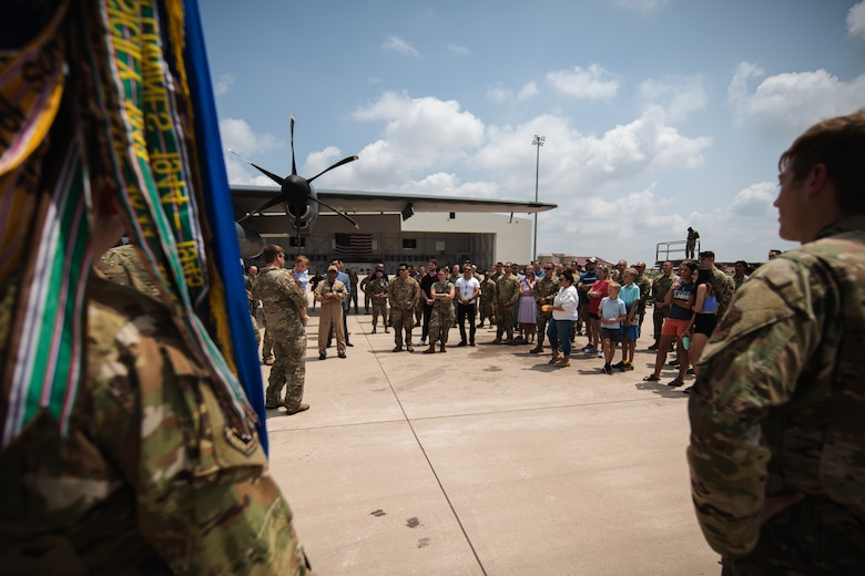 27th Special Operations Wing Airmen and families gather for a tour of the wing's new AC-130J Ghostrider gunship at Cannon Air Force Base, NM, July 19, 2021. The arrival of Cannon's AC-130J represents a significant expansion of AC-130 capacity as AFSOC structures for the future of Special Operations force generation models as Air Commandos adapt to near-peer power competition throughout global operations. (U.S. Air Force photo by Staff Sergeant Candin Muniz)