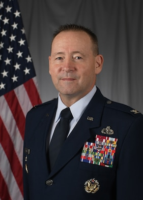 Official photo for deputy commander, AFDW. Man looking at camera in military uniform.
