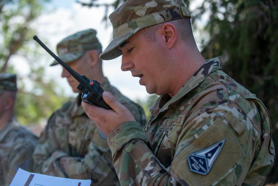 Airmen practice radio etiquette