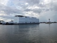 The Navy's newest berthing barge, Auxiliary Personnel Lighter (APL) 67 sailed away from VT Halter Marine's shipyard this week en route to Naval Base San Diego. APL 67 will eventually be delivered to Yokosuka, Japan.