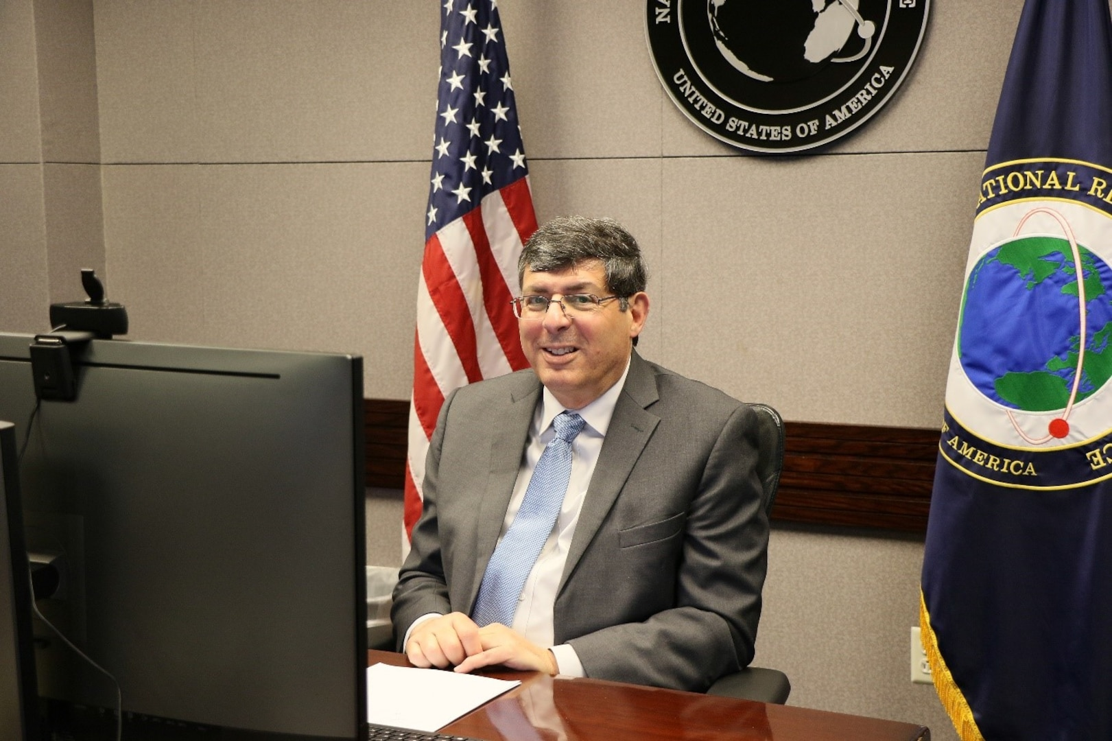 Director Scolese prior to the Washington Space Business Roundtable July 20.